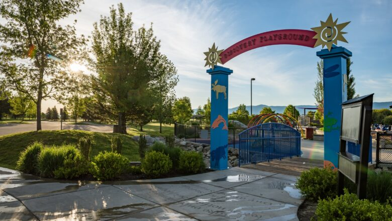 Entrance to kids playground