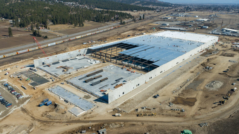Amazon distribution facility being built on Barker Road